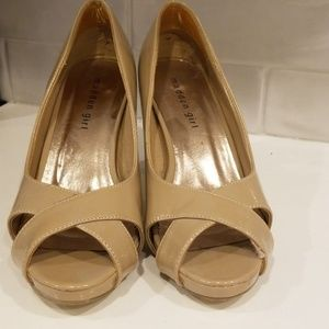 Nude Open Toe Pumps - Madden Girl 7.5